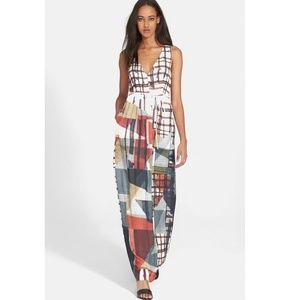 Clover Canyon Gradient Plaid Maxi Dress Long S